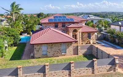 Drone photography of home for sale at Kuraby
