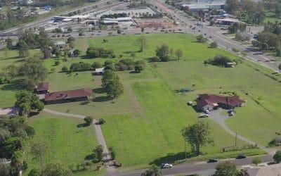 Drone video at Richlands land development site