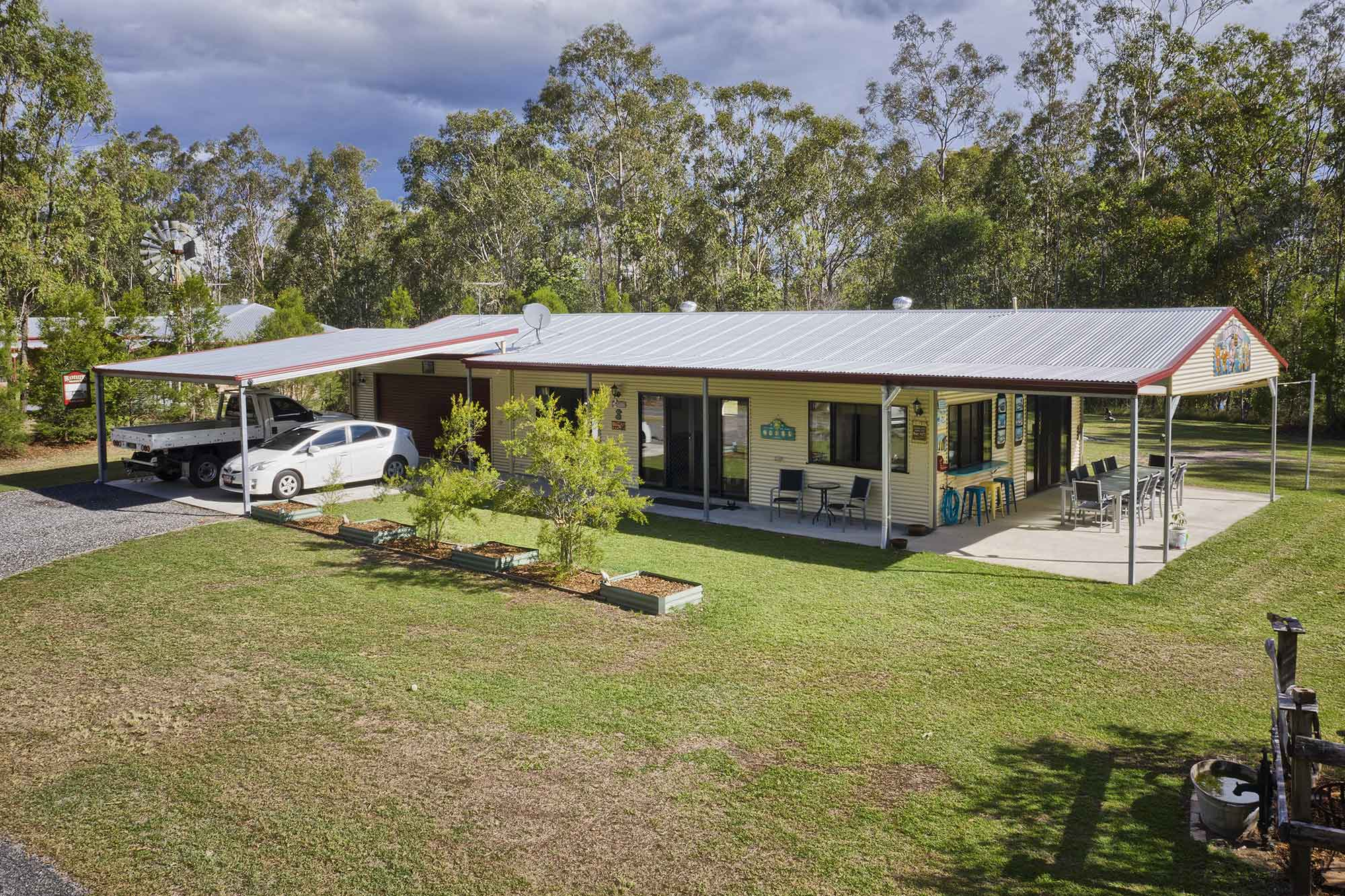 The second residence  - Drone photography acreage property for sale at Jimboomba