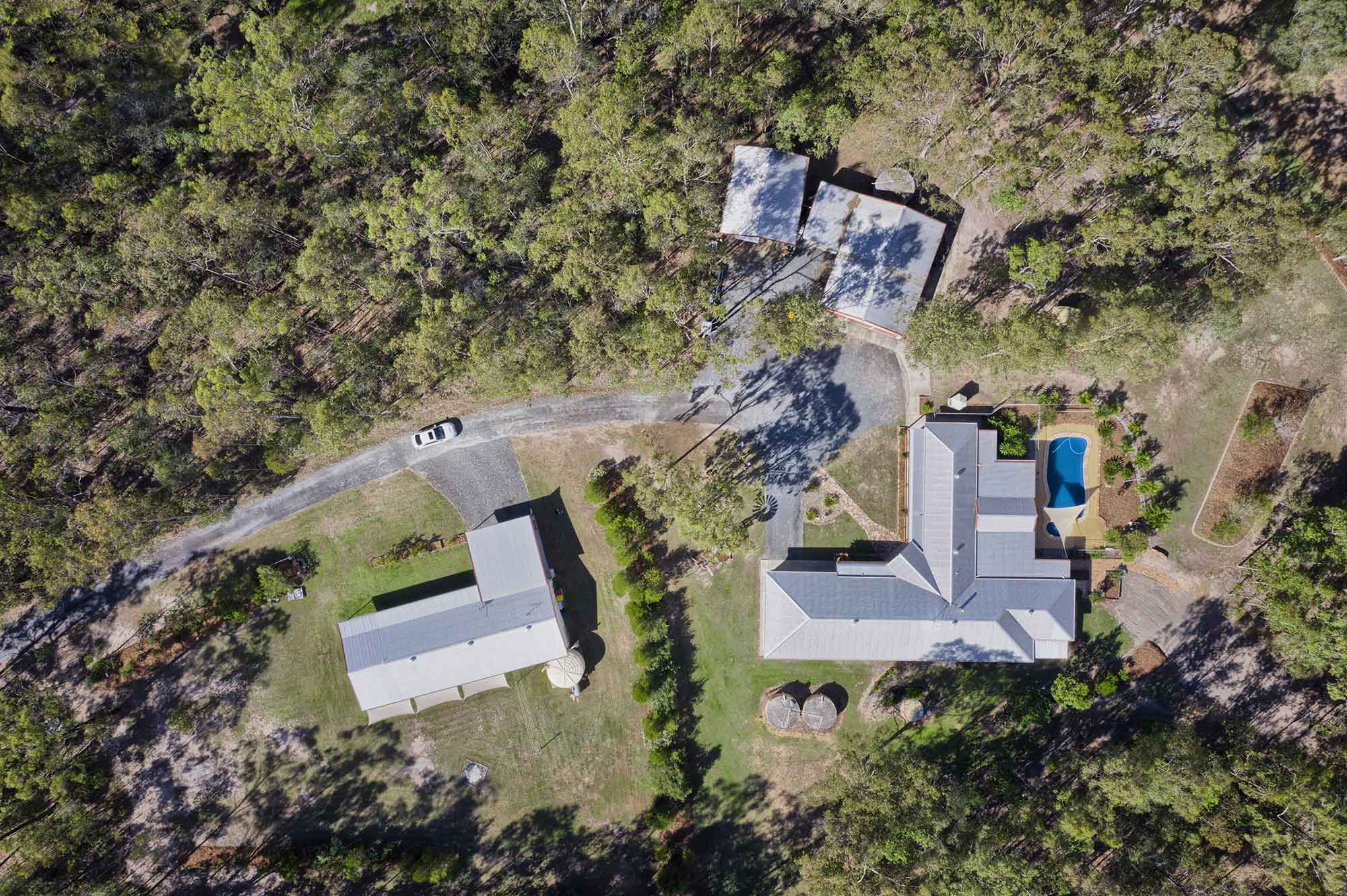 100m up  - Drone photography acreage property for sale at 56 Sandpiper Drive Jimboomba