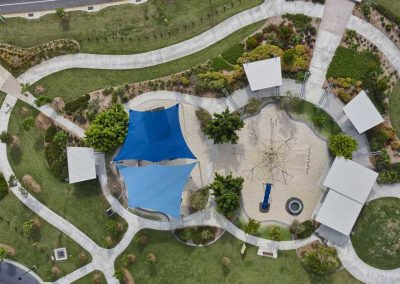 Brisbane Shade Sails drone photography
