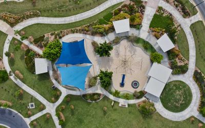 Drone Photography of Shade Structures over SE Queensland Council Parks