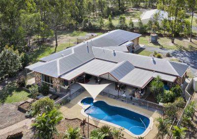 Drone photograhy acreage property for sale at Jimbooomba