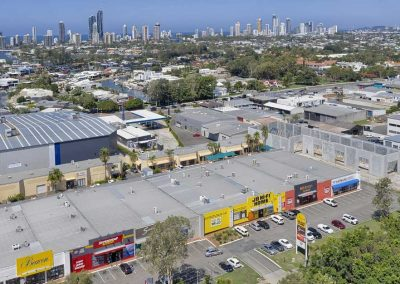 Drone photography of large format building for lease at Bundall Gold Coast