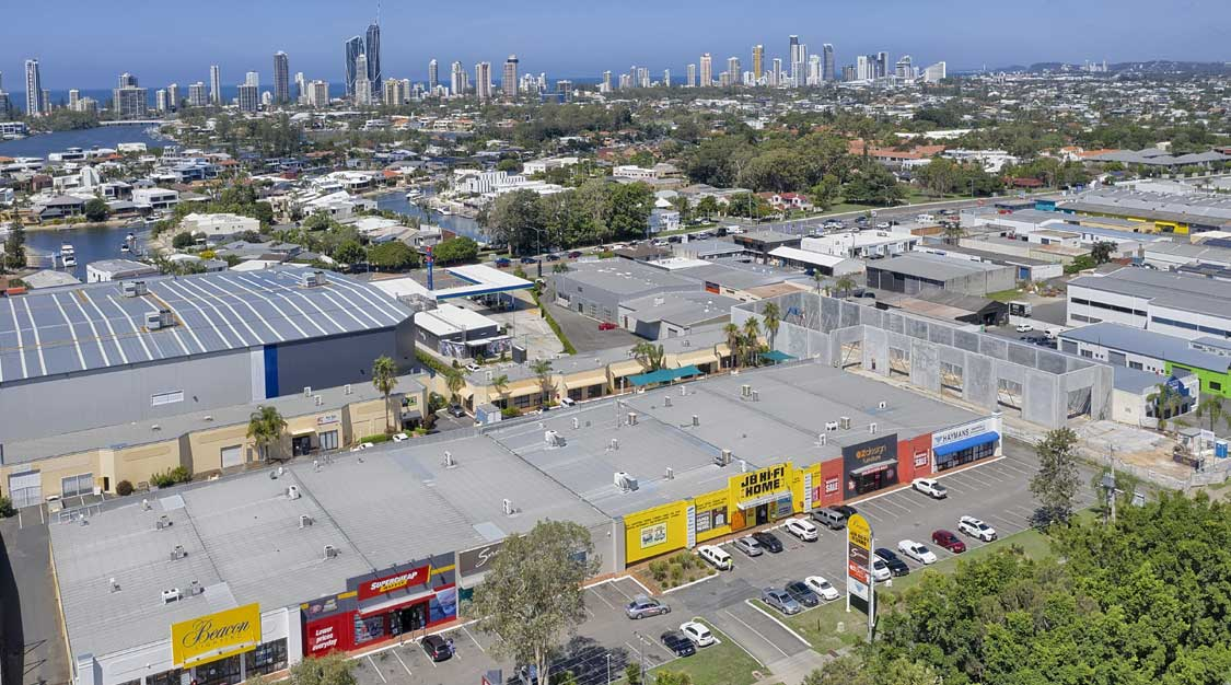 Drone photography of property for sale at Upton St, Bundall
