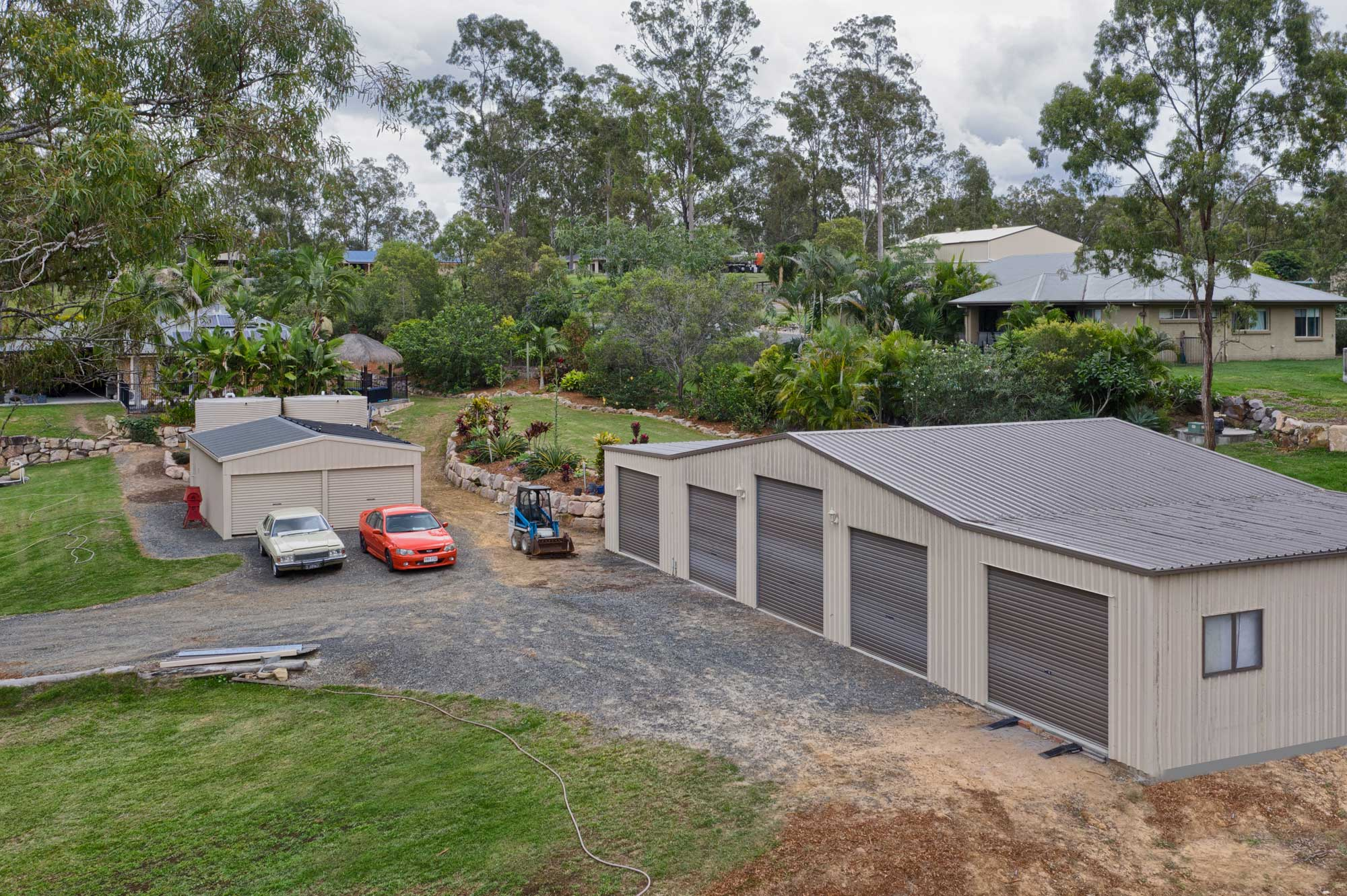 Drone photography at 152 Peppertree Drive Jimboomba - the rear workshop