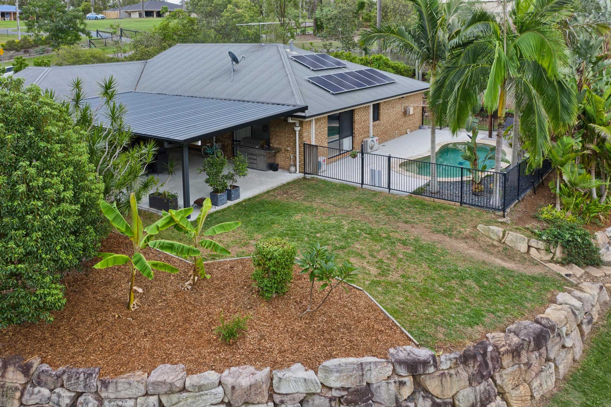 Drone photography at 152 Peppertree Drive Jimboomba - the main residence