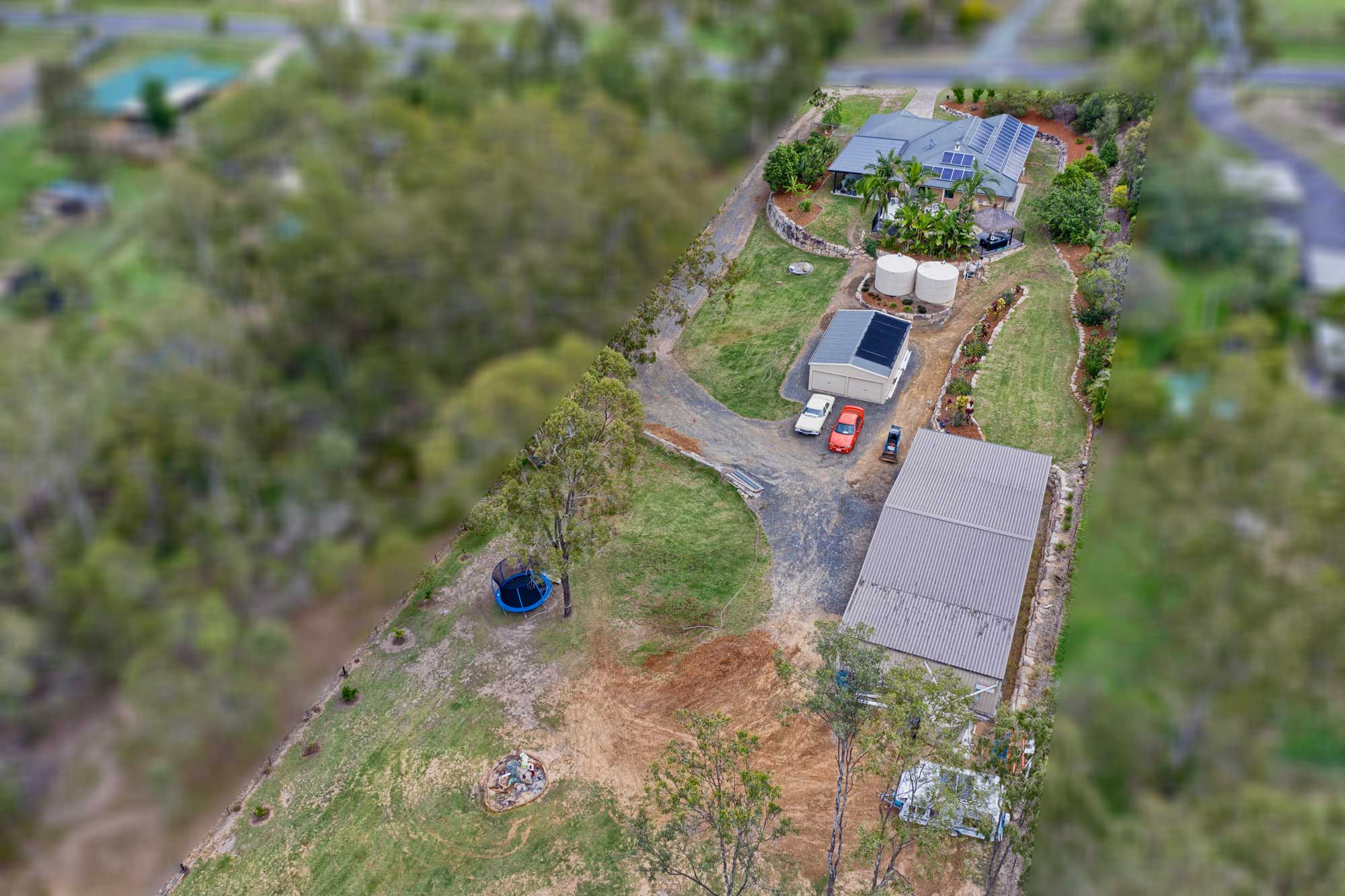 Drone photography acreage property for sale at Jimboomba