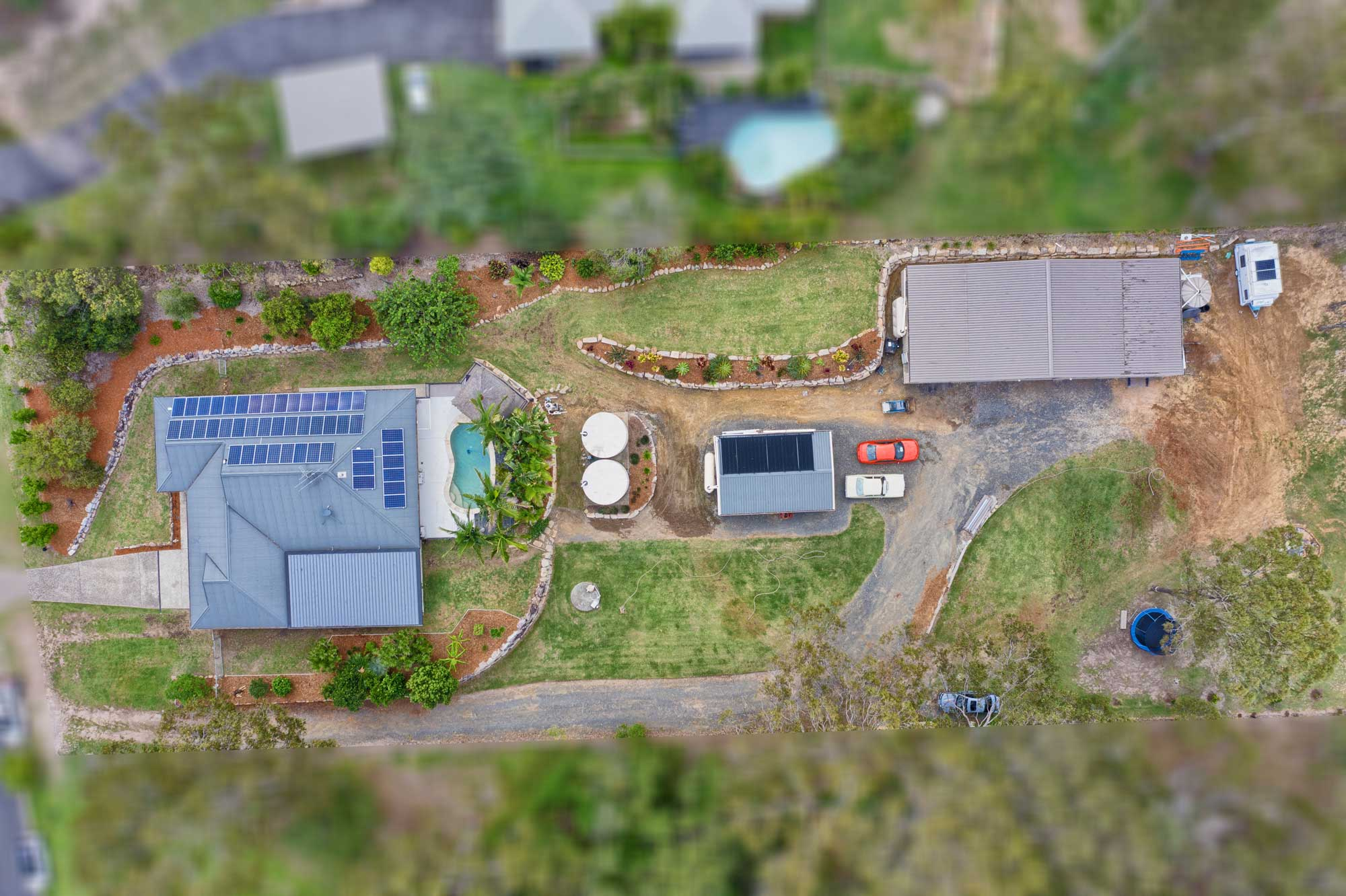 100m up  - Drone photography acreage property for sale at Jimboomba
