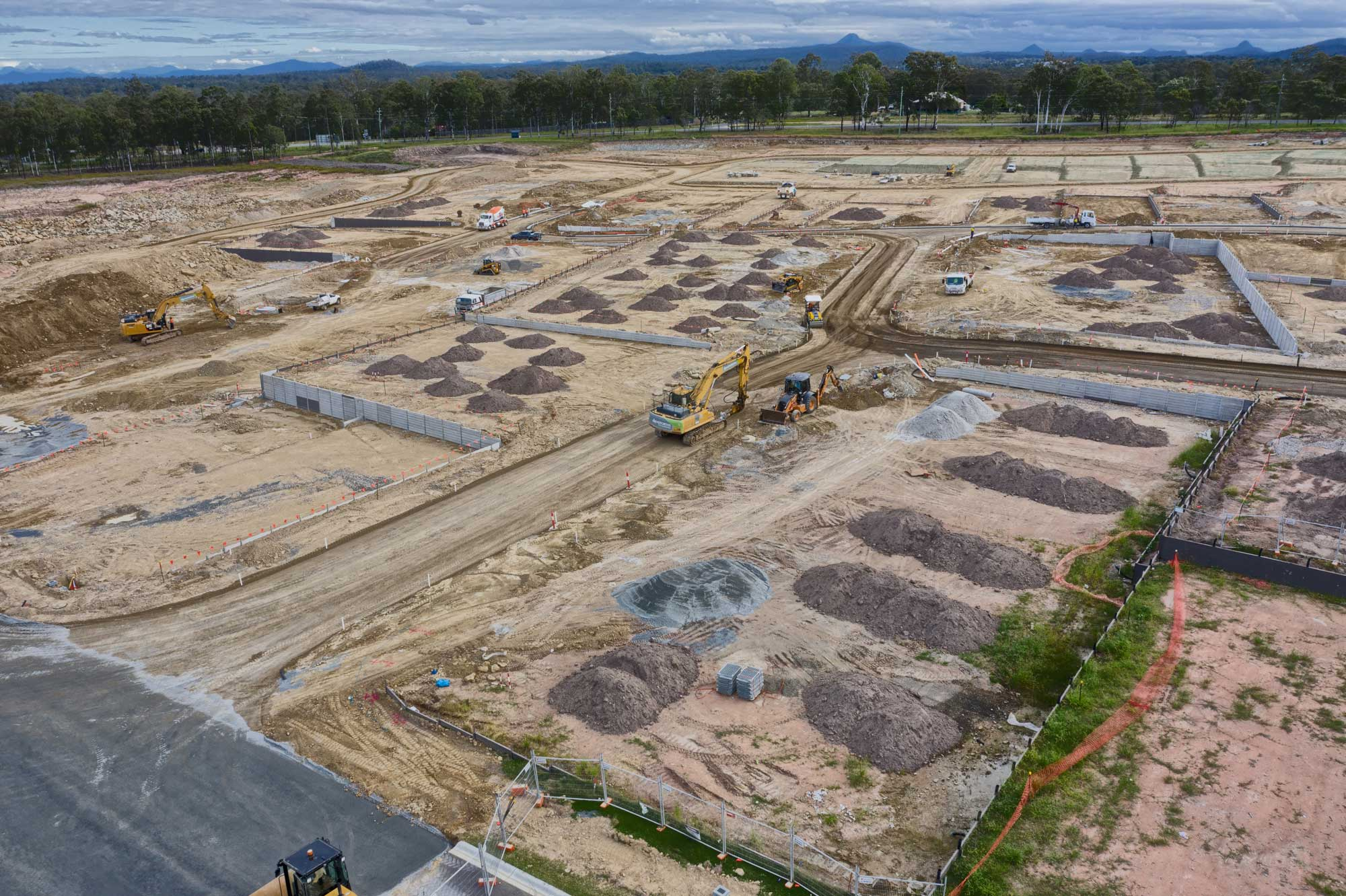 The Mavic2Pro films a construction site at Greenbank