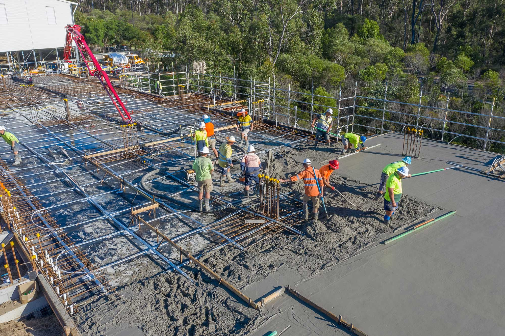 Drone photography of classroom construction at Augusta State School, Queensland
