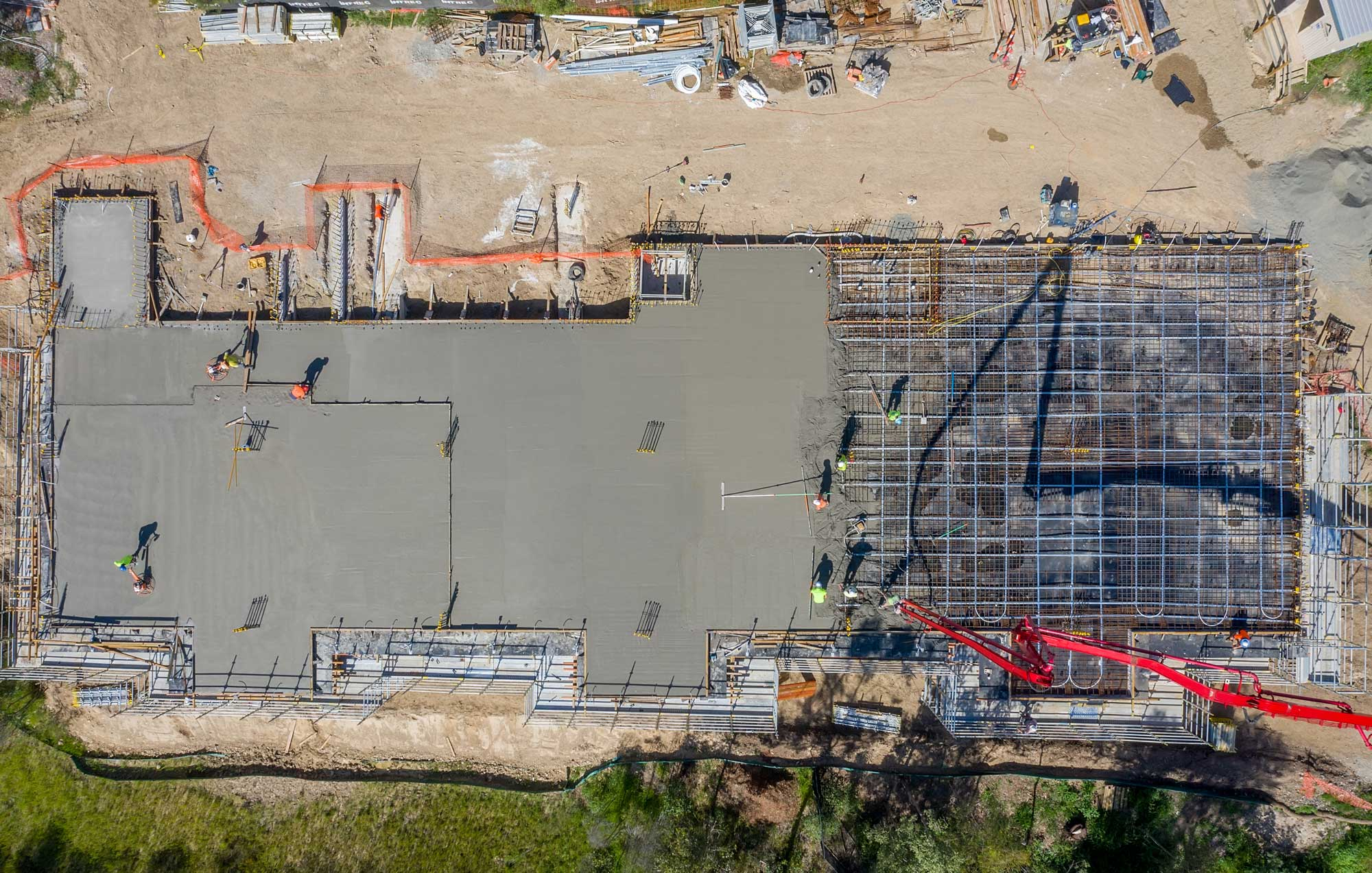 Drone photograph from 80m of construction at Augusta State School, Queensland