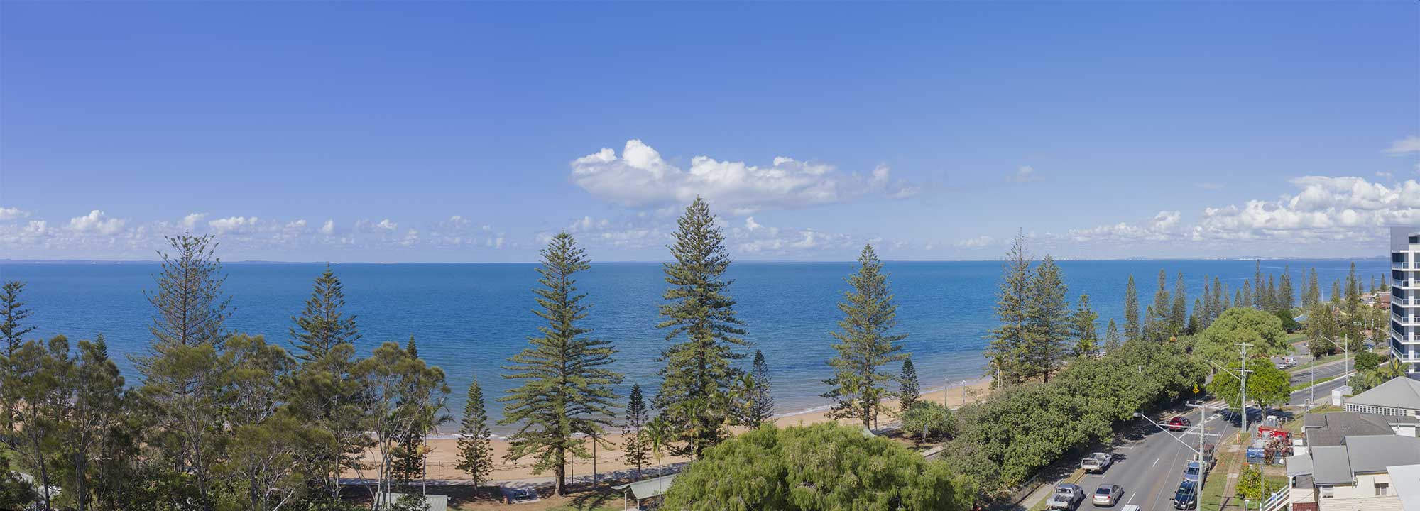 Balcony views at 37 Marine Parade, Redcliffe