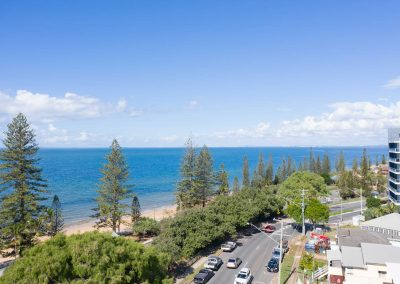 Balcony views for a new apartment at Marine Parade Redcliffe