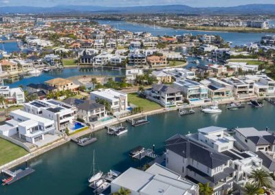 Drone photography and video at Sovereign Islands for promoting an apartment development