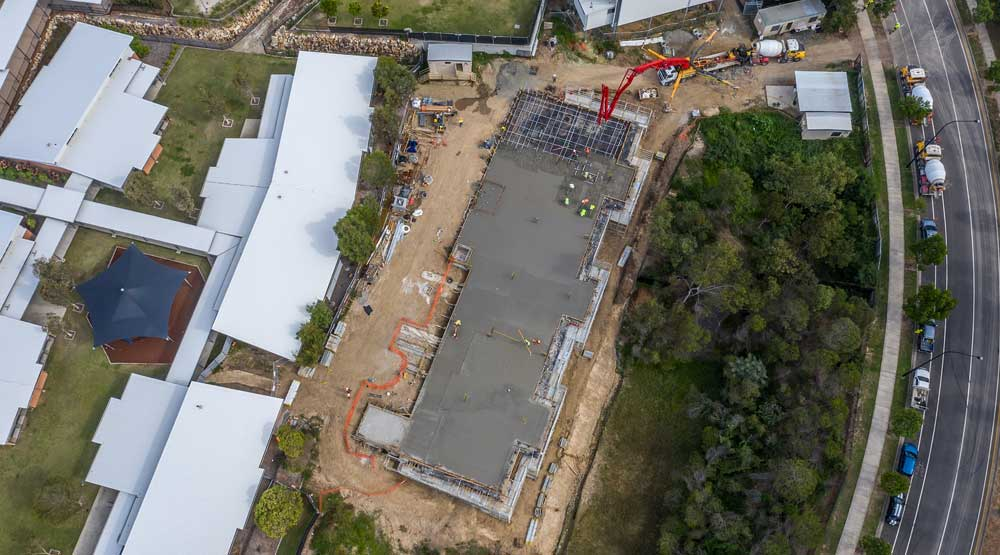 DroneAce Brisbane drone photography - construction work