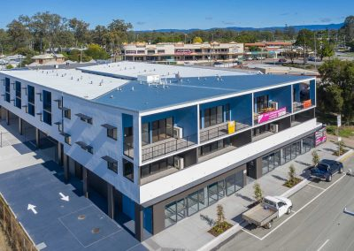 Drone photography at Petrie opposite to the USC Moreton Bay University building under construction