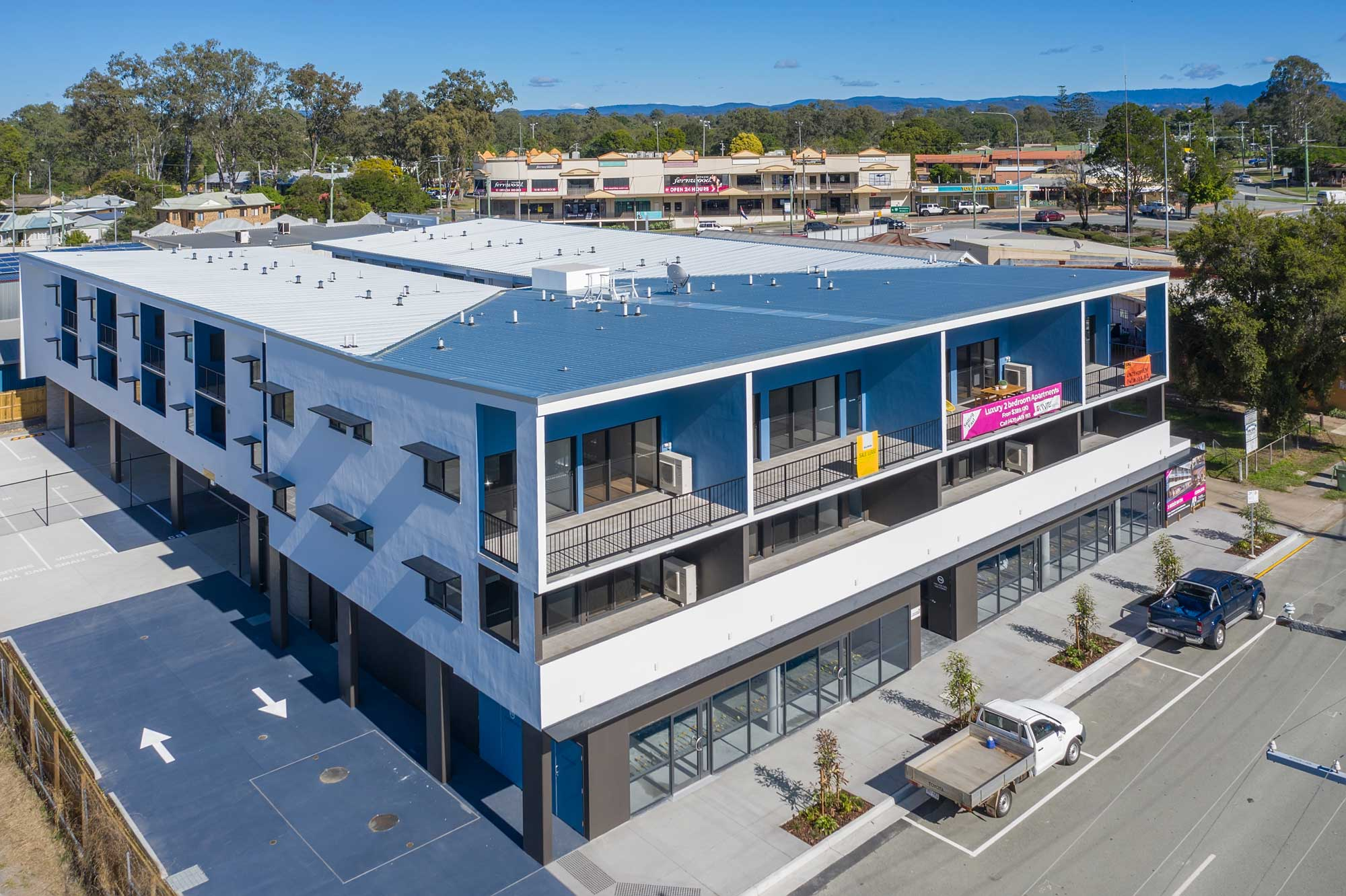 drone photography for property sub division marketing at Ormiston, Redland Bay area