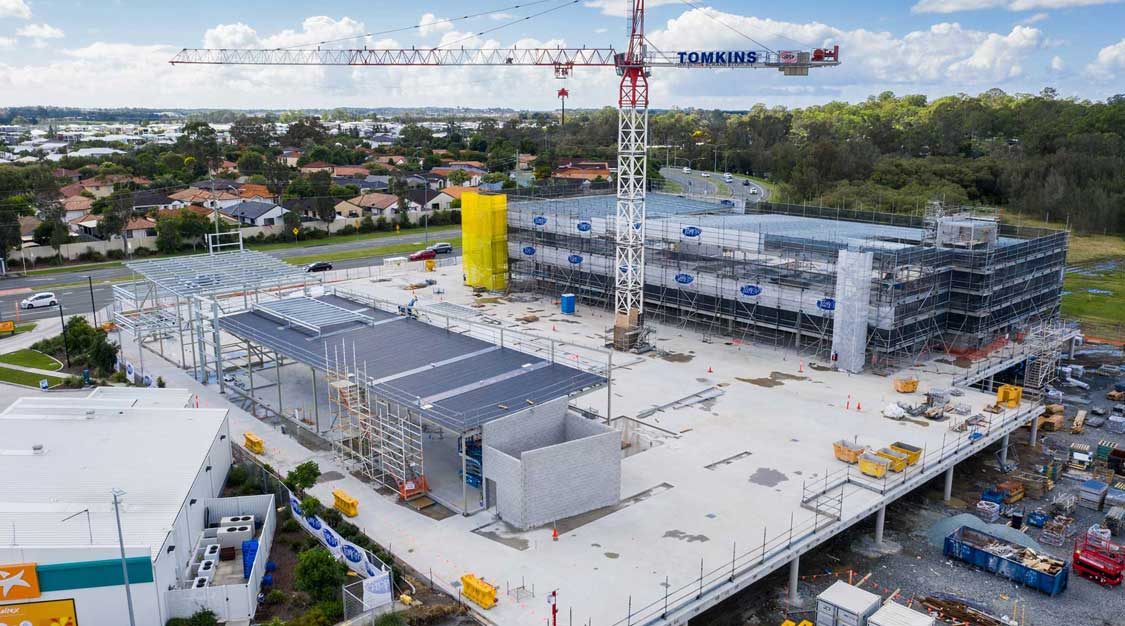 Drone photography Helensvale medical site under construction