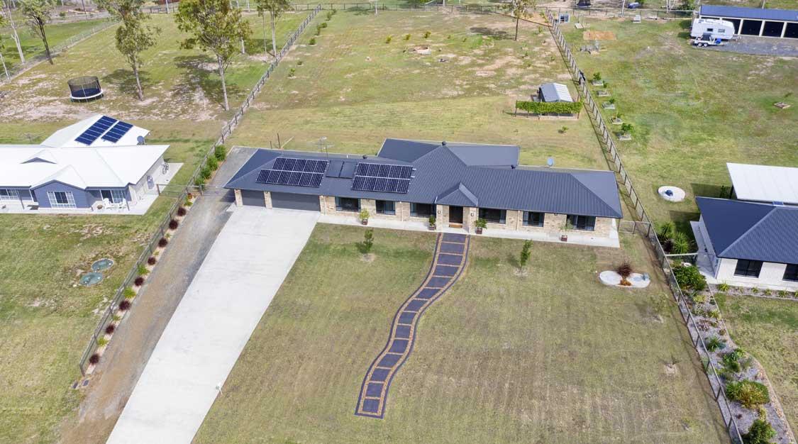 Drone photography acreage real estate listing Panitz Drive Jimboomba