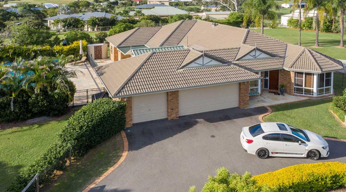 Drone photography of acreage real estate listing St Jude Jimboomba