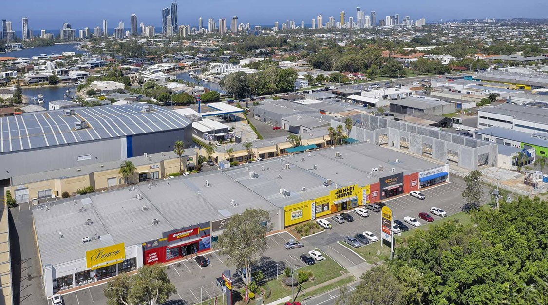Drones for large format building sales and leasing at Bundall - Gold Coast