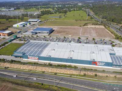 Land development project - photography at Brendale  for large format building specialists Transact Capital