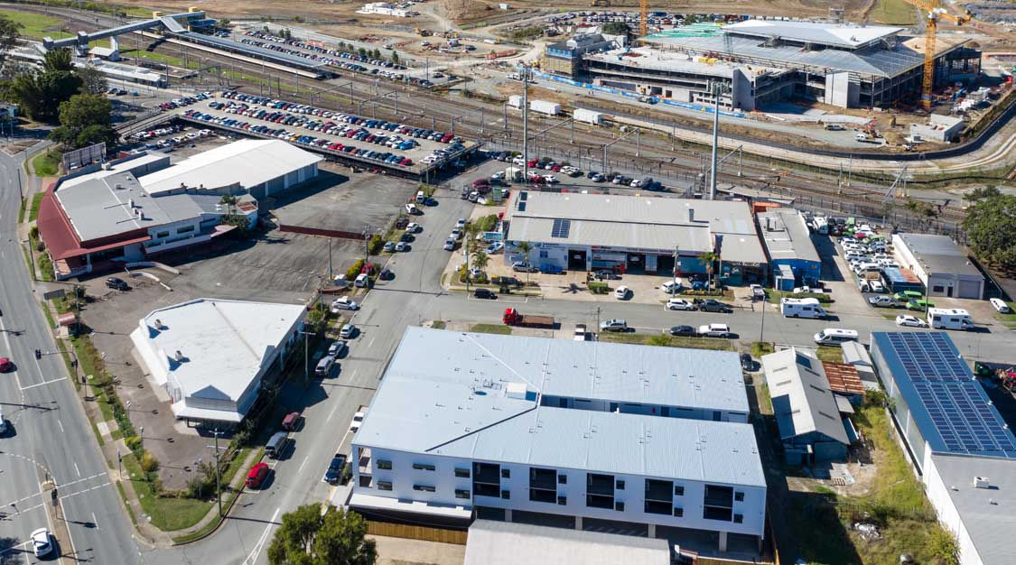 Drone photography Whites Rd Petrie apartments for sale