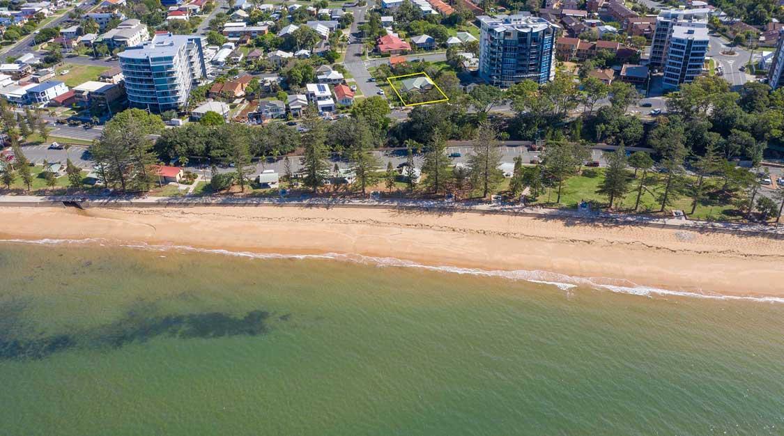 Drone photography Marine Parade Redcilffe development site