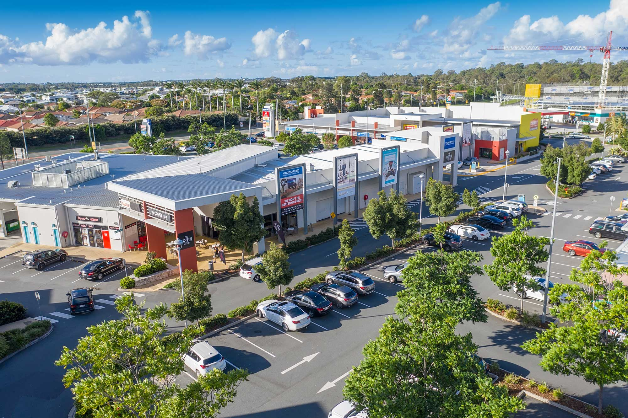 Fly through drone video at the Homeworld Helensvale Shopping Centre