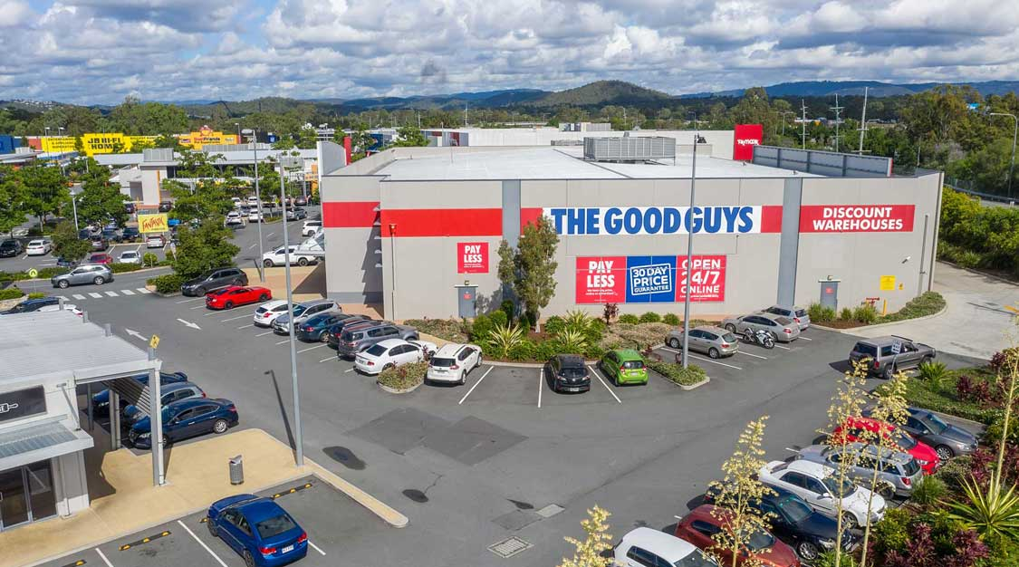 Drone fly through for the Homeworld Helensvale promotion video