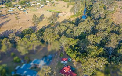 Drone photography acreage real estate Wishaw Rd Jimboomba