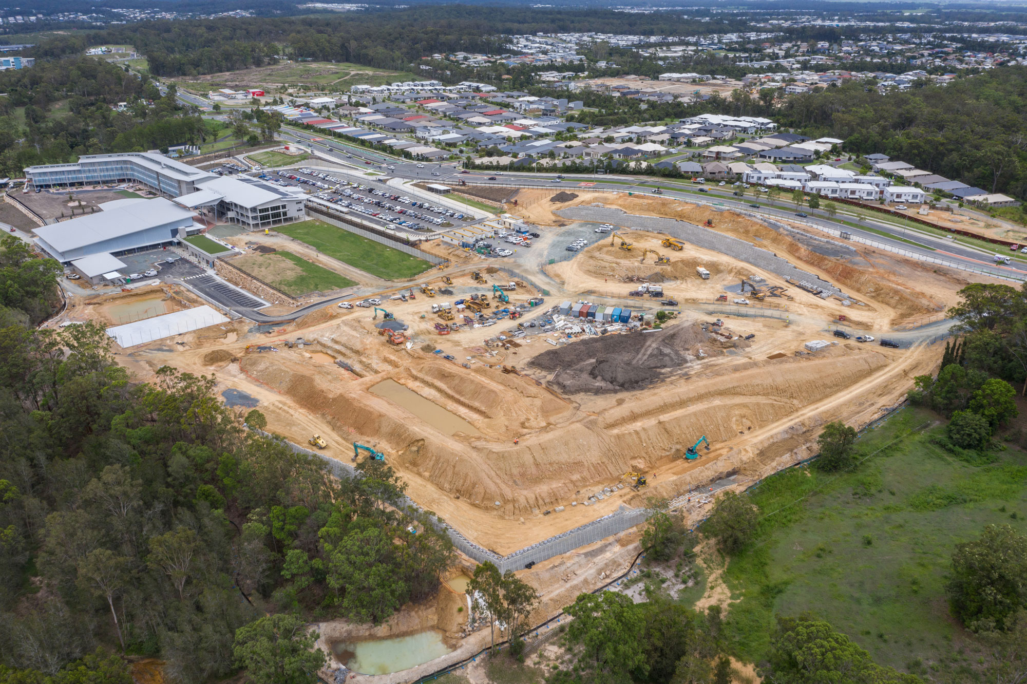 Drone photography of the entire construction site