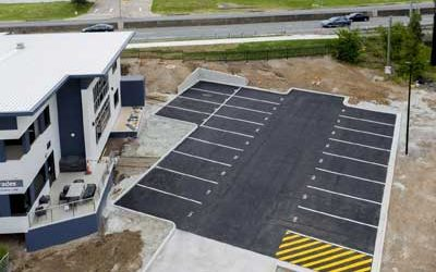 Drone photography for newly constructed carpark