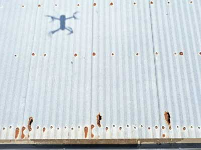 Roof survey for rust damage