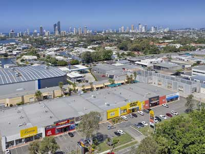 Upton St Bundall drone video for retail leasing