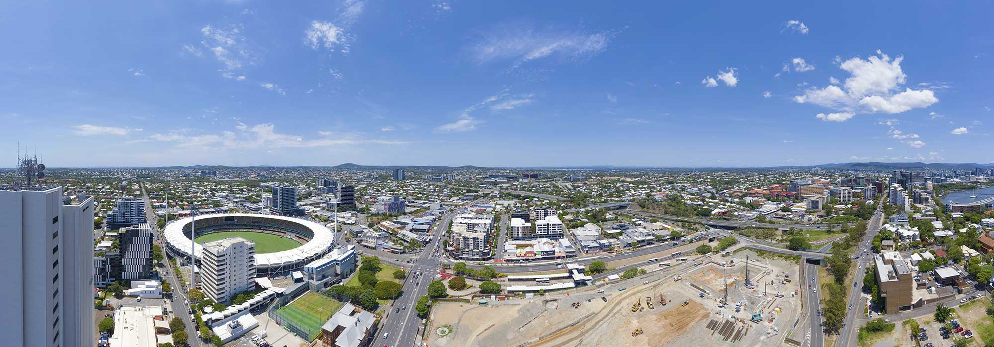 Vulture St drone panorama