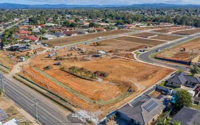 Drone video of Strathpine land sub development